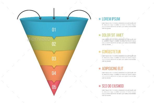 Funnel Diagram - Infographics