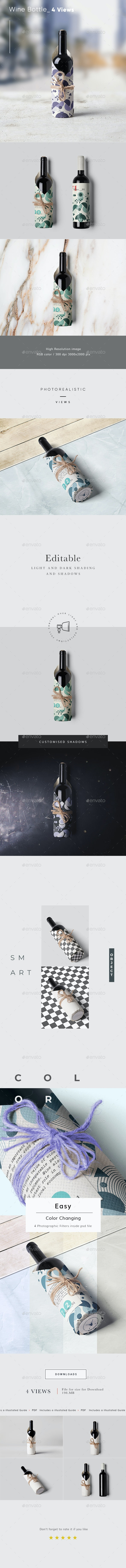 Wine Bottle Wrapping Mock-Up 3 - Food and Drink Packaging