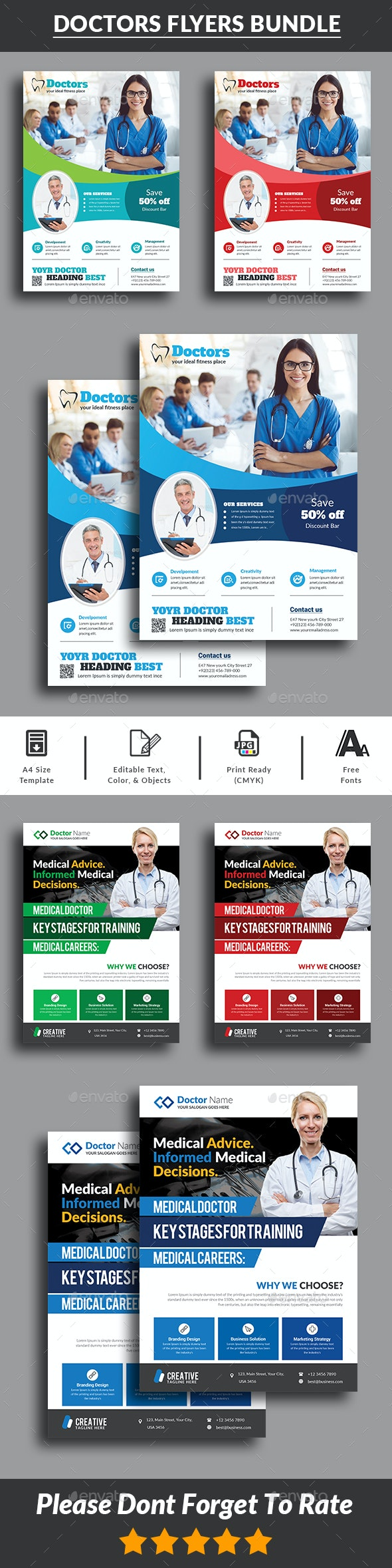 Health & Medical Doctors Flyers Bundle - Corporate Flyers