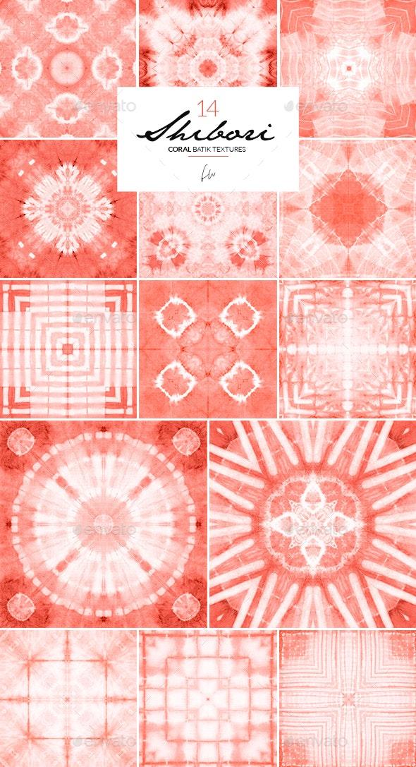 Shibori - Coral Batik Textures - Fabric Textures