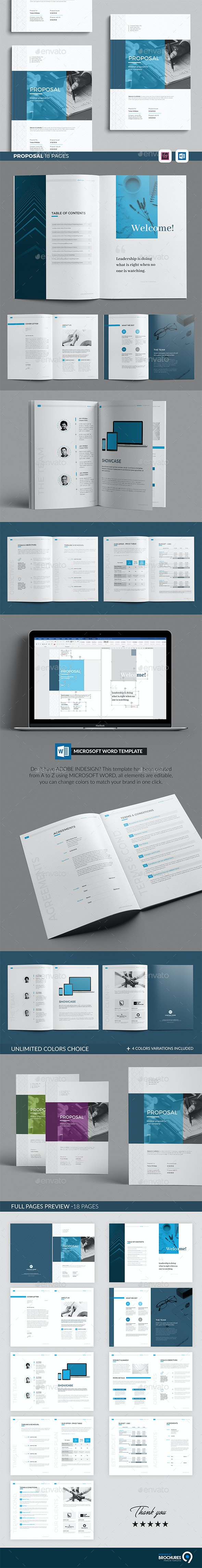 Word Proposal 18 Pages - Corporate Brochures