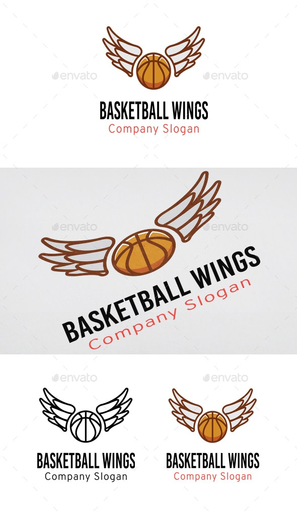 Basketball Wings - Objects Logo Templates