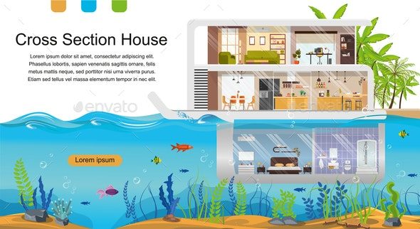 Future Architecture Technologies Vector Web Banner - Buildings Objects