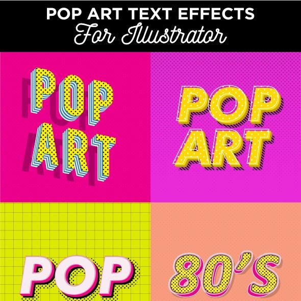 A Pack of Pop Art Text Effects