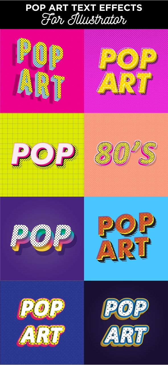 A Pack of Pop Art Text Effects - Styles Illustrator
