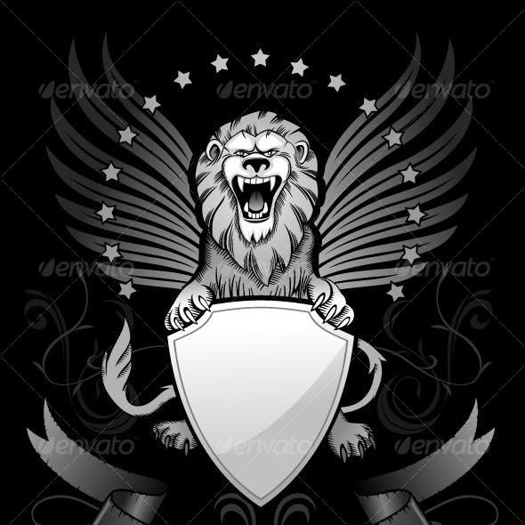 Roaring Winged Lion