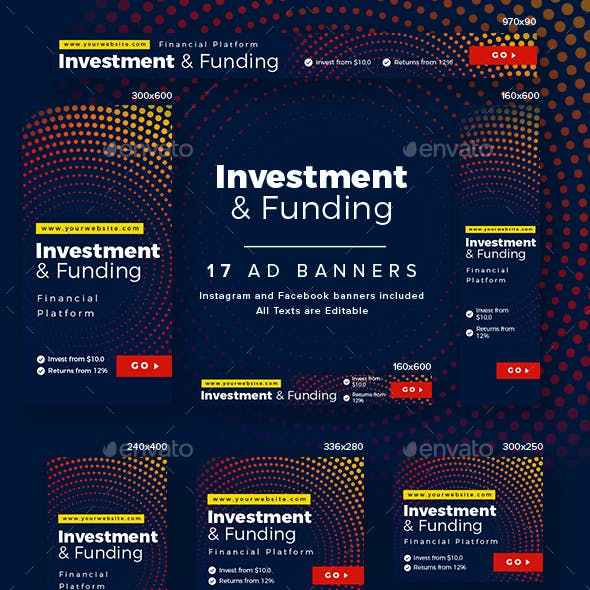 Investment and Funding Ad Banners