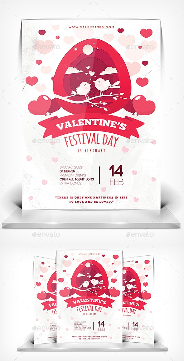 Valentine Day Party - Flyers Print Templates
