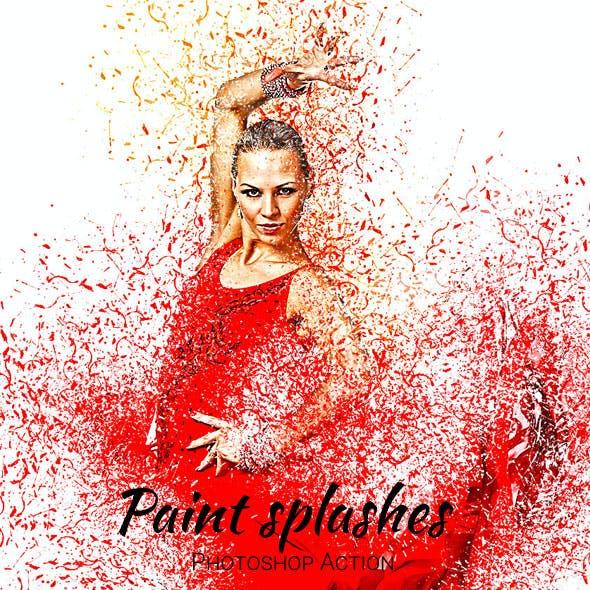 Paint Splashes Photoshop Action