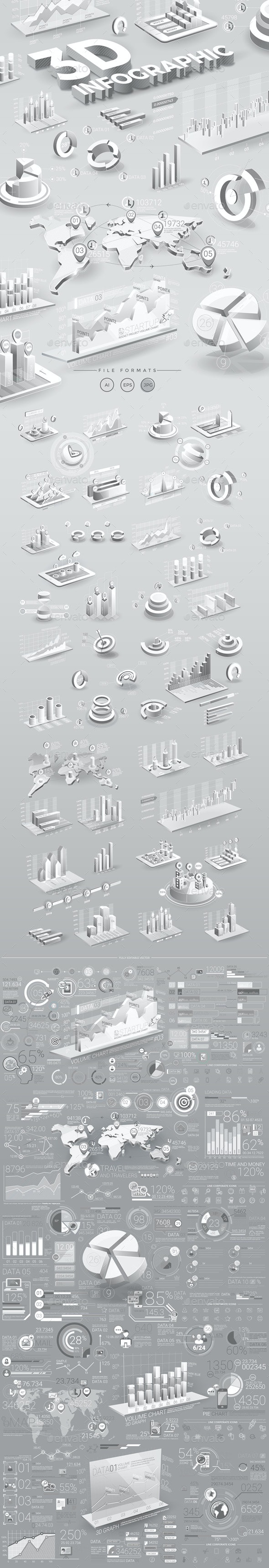 White Infographic Elements - Infographics