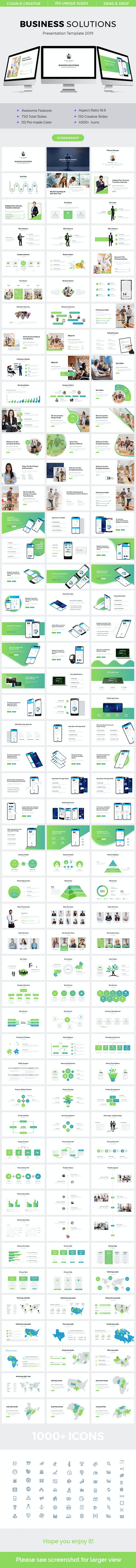 Business Solutions Powerpoint Template 2019 - Business PowerPoint Templates