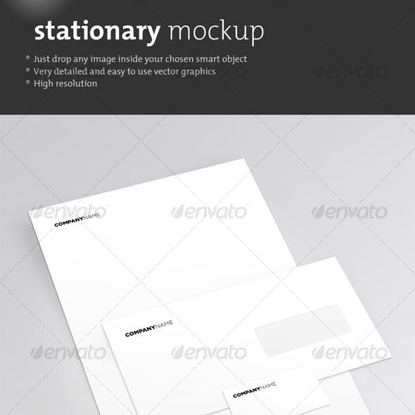 Clean Stationary Mockup