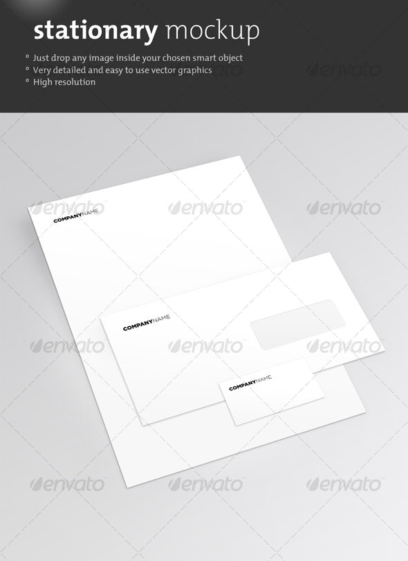 Clean Stationary Mockup - Stationery Print