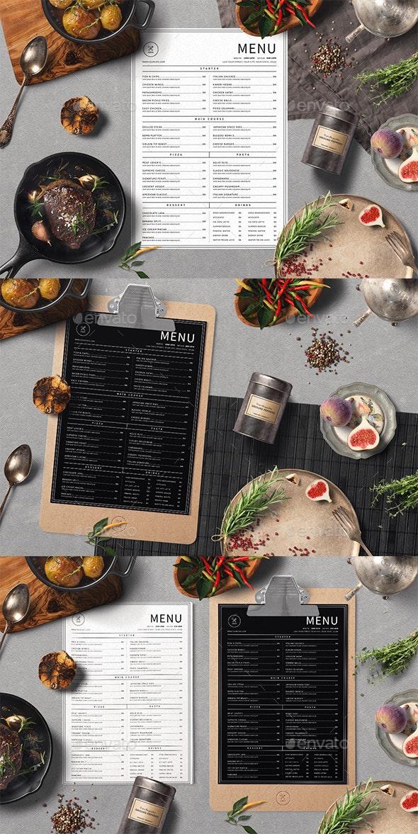 Classic Food Menu - Food Menus Print Templates