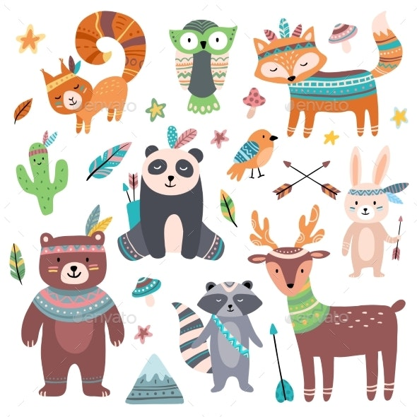 Tribal Animals - Animals Characters