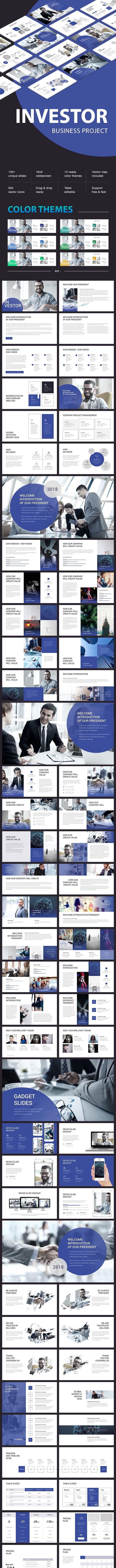 Investor Business - Google Slides Presentation Templates