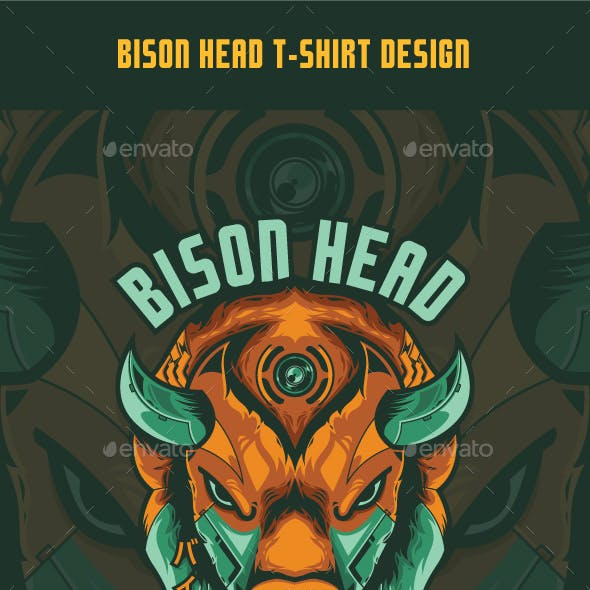 Bison Head T-Shirt Design