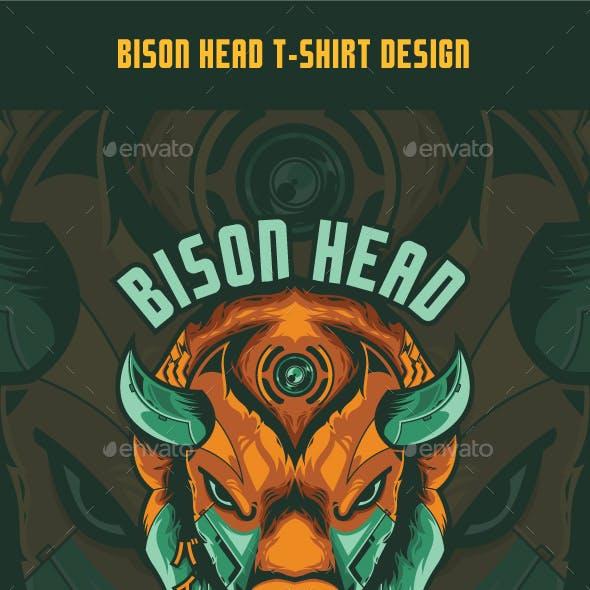 Bison Head T-Shirt Design