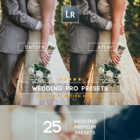 25 Premium Wedding Lightroom Presets