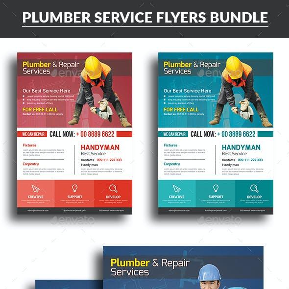 Plumber Service Flyers Bundle Templates