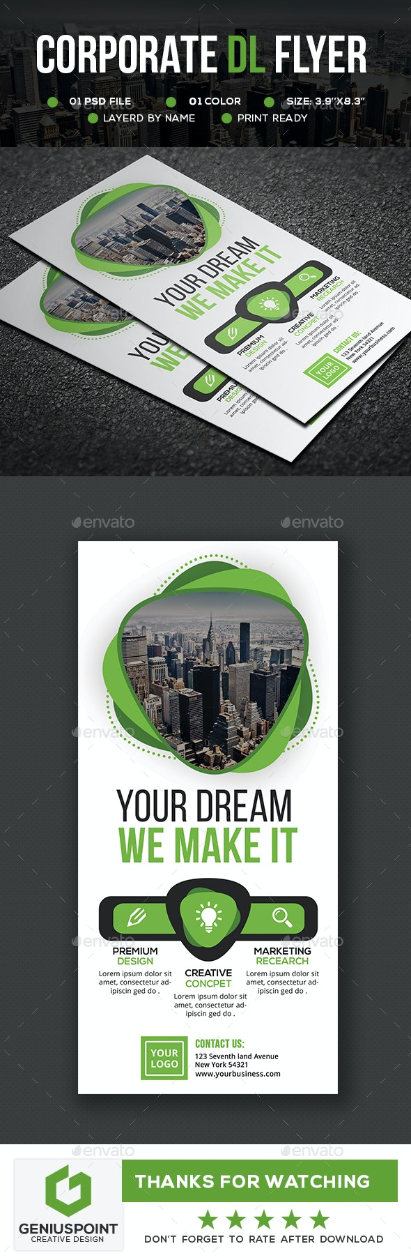 Corporate DL Flyer V2 - Flyers Print Templates