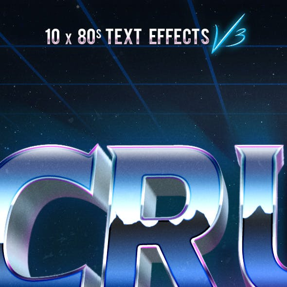 80s Text Effects V3