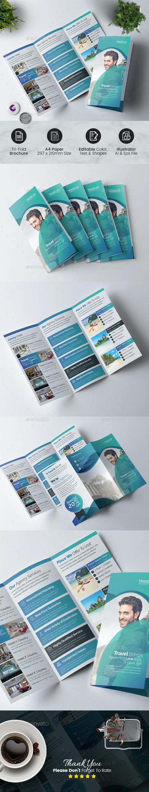 Travel Agency Tri-fold Brochure - Corporate Brochures