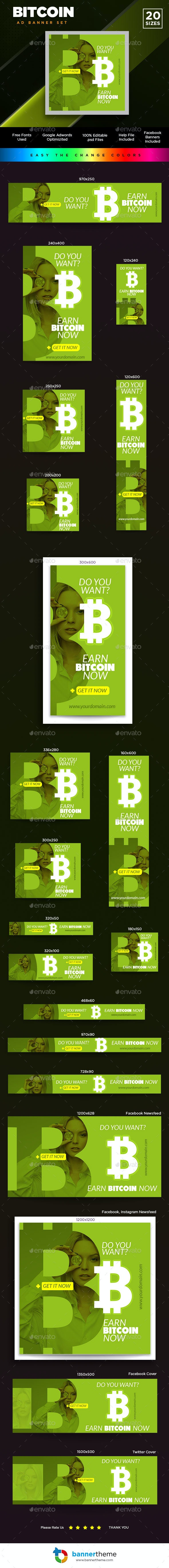 Bitcoin Banner - Banners & Ads Web Elements