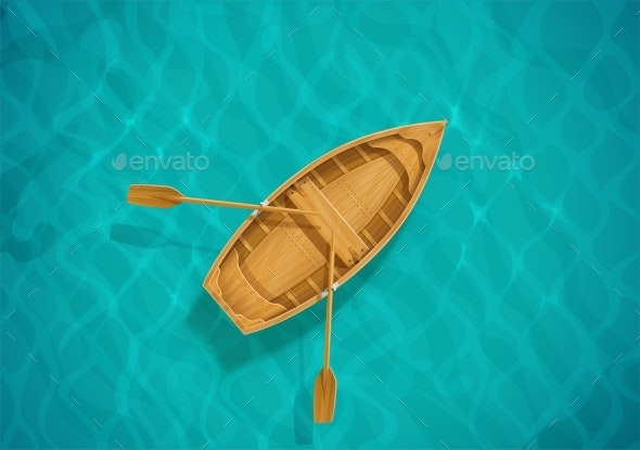 Sea Water and Wooden Boat - Man-made Objects Objects