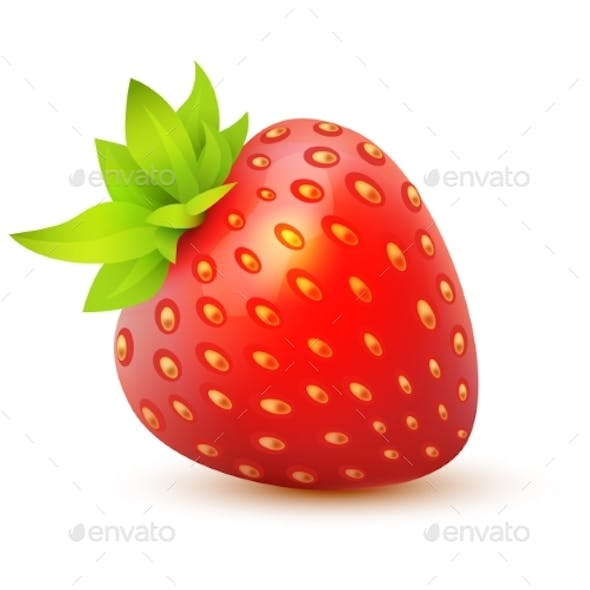 Vector Icon of Strawberry