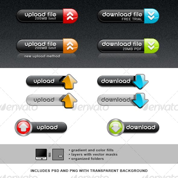 Upload and Download Button Set 2