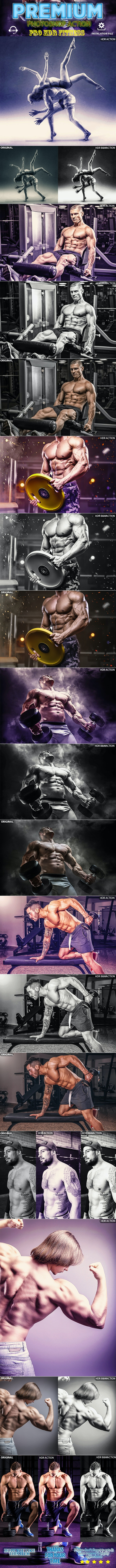 Fitness HDR Photoshop Action - Photo Effects Actions