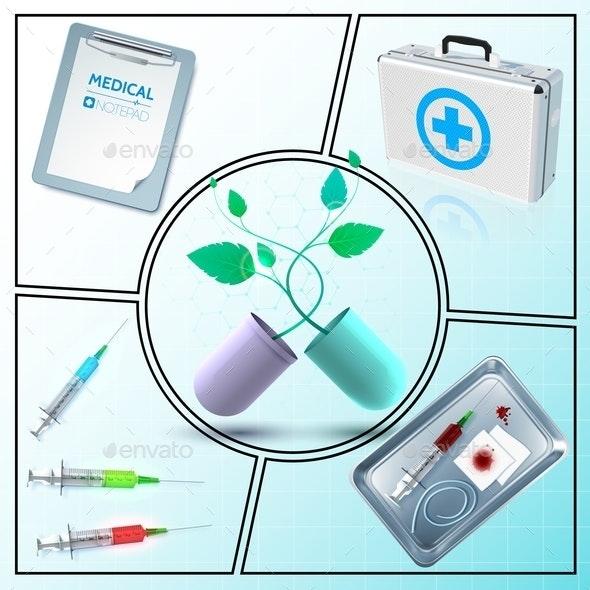 Realistic Medicine Composition - Health/Medicine Conceptual