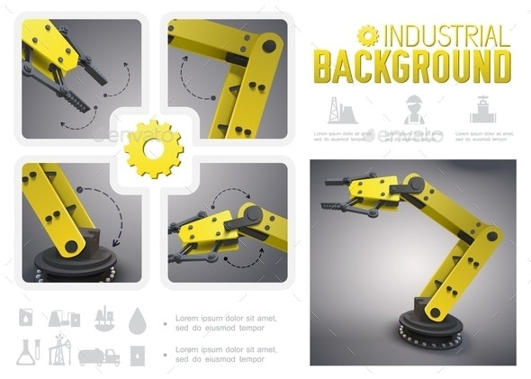 Realistic Industrial Infographic Concept - Industries Business