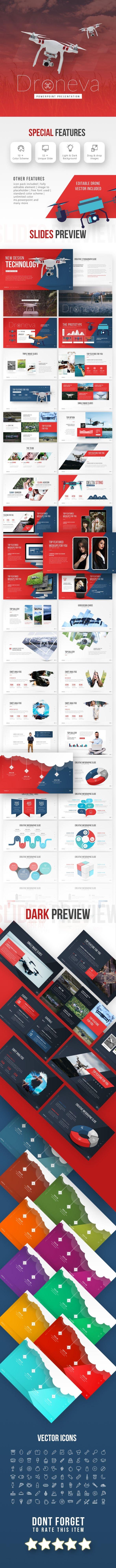 Droneva - Technology PowerPoint Template - PowerPoint Templates Presentation Templates