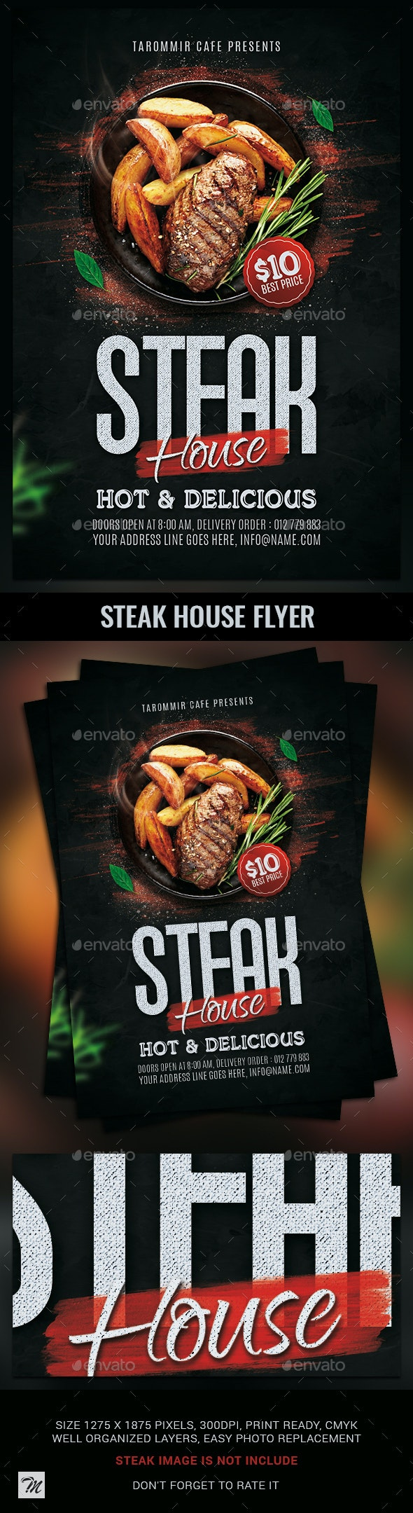 Steak House Flyer Template - Restaurant Flyers
