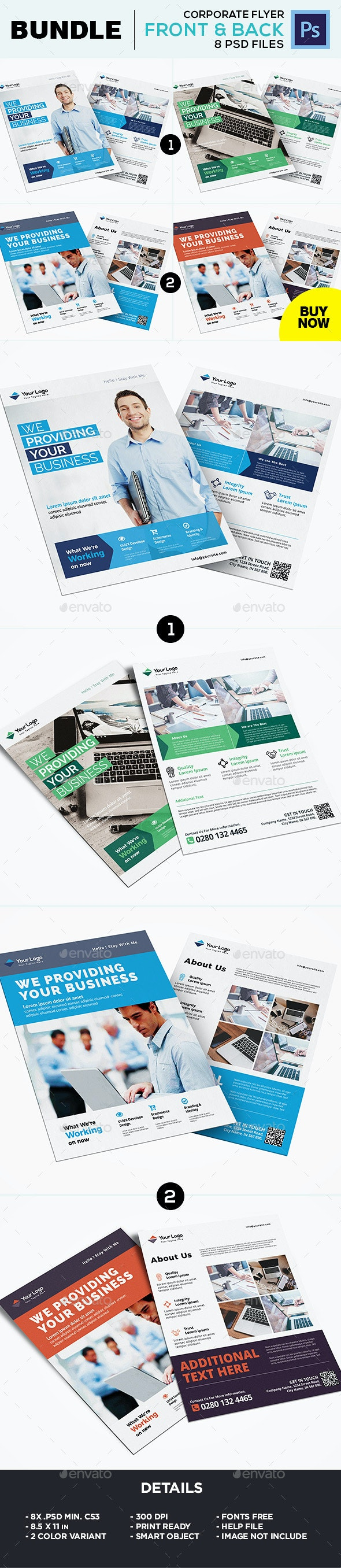 Corporate Flyer Template Bundle - Corporate Flyers