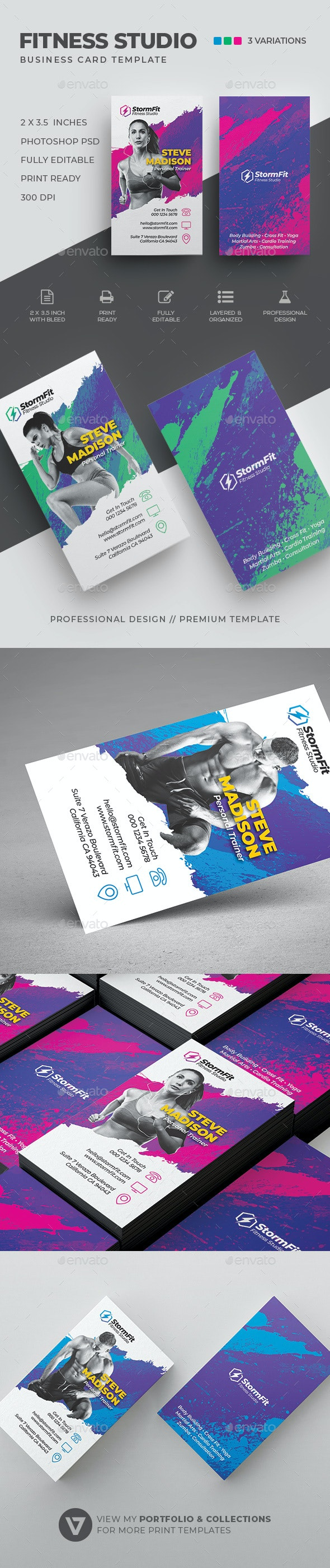 Fitness Business Card - Industry Specific Business Cards