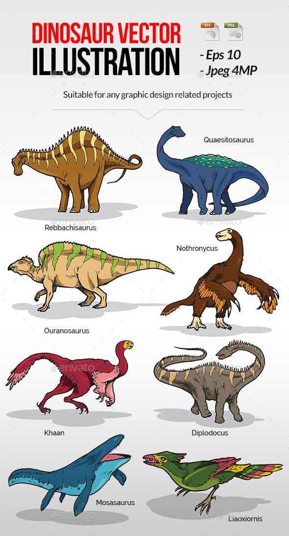Dinosaur Vector Illustration - Animals Characters