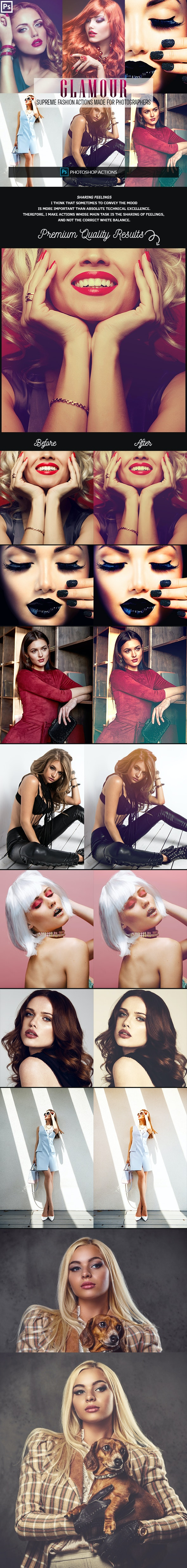 Glamour Fashion Photoshop Actions - Photo Effects Actions