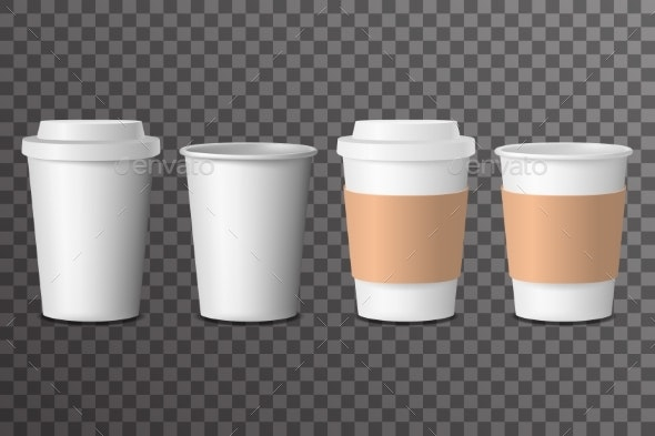 Coffee Cup Takeaway with Cover - Food Objects