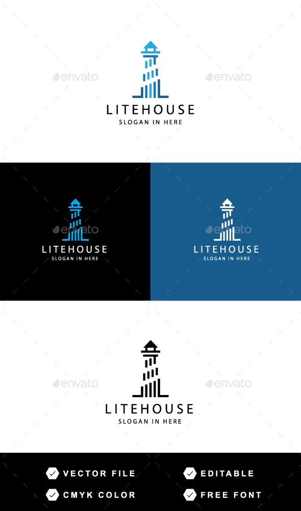 Litehouse Logo - Buildings Logo Templates