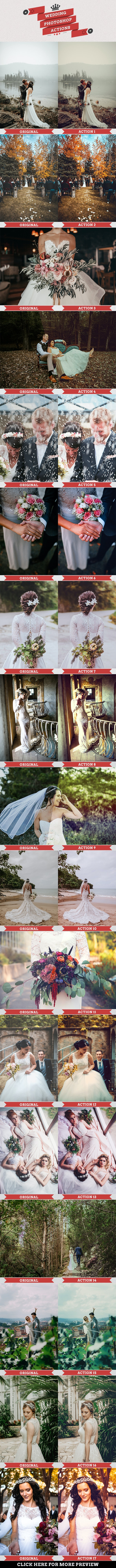Wedding Photoshop Actions - Photo Effects Actions