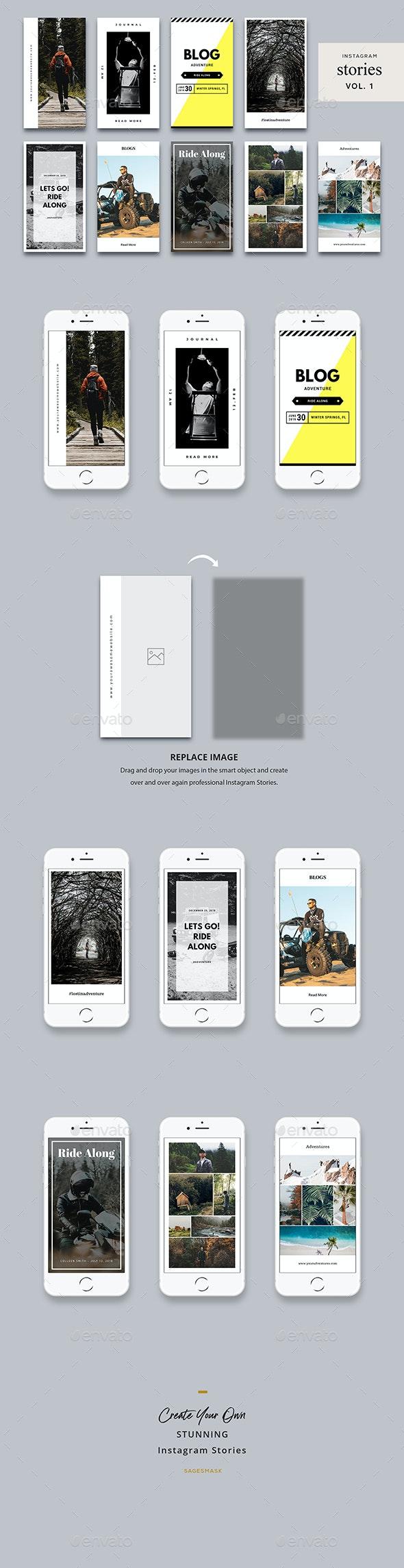 Instagram Stories Vol. 1 - Social Media Web Elements