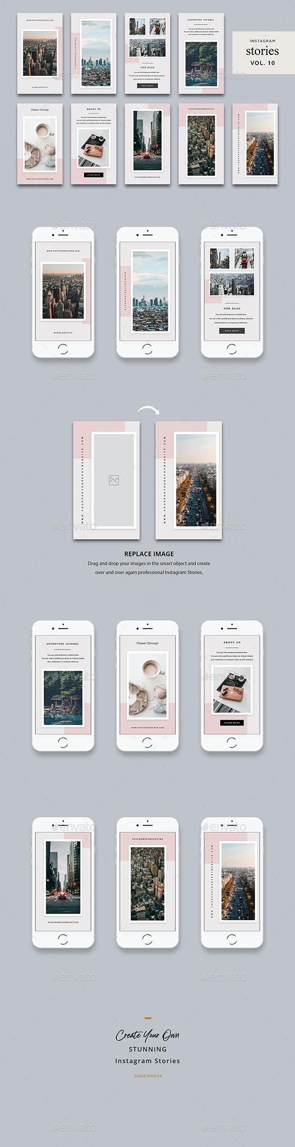 Instagram Stories Vol. 10 - Social Media Web Elements