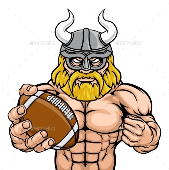Viking American Football Sports Mascot - Sports/Activity Conceptual