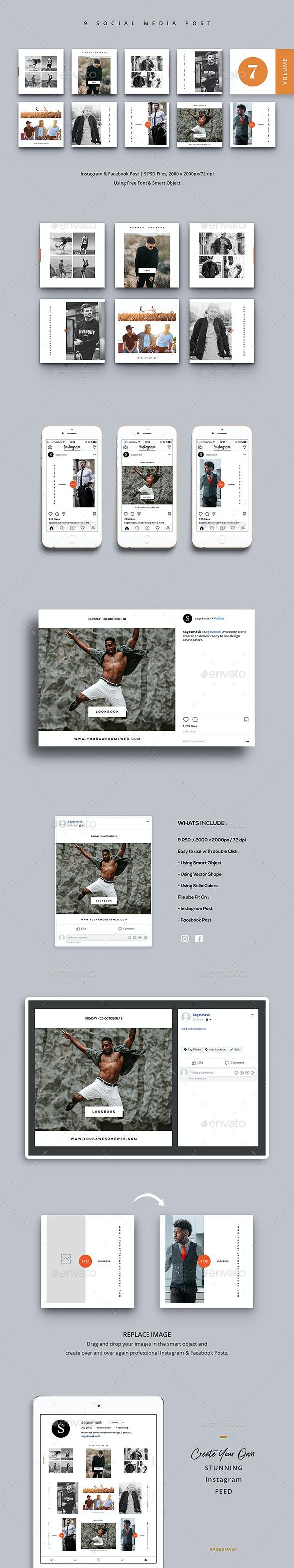 Social Media Post Vol. 7 - Social Media Web Elements