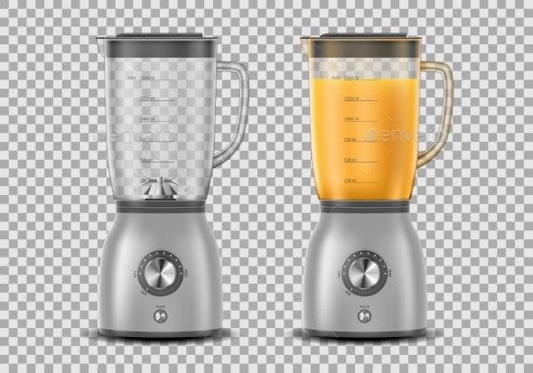 Set of Realistic Juicer Blender - Food Objects
