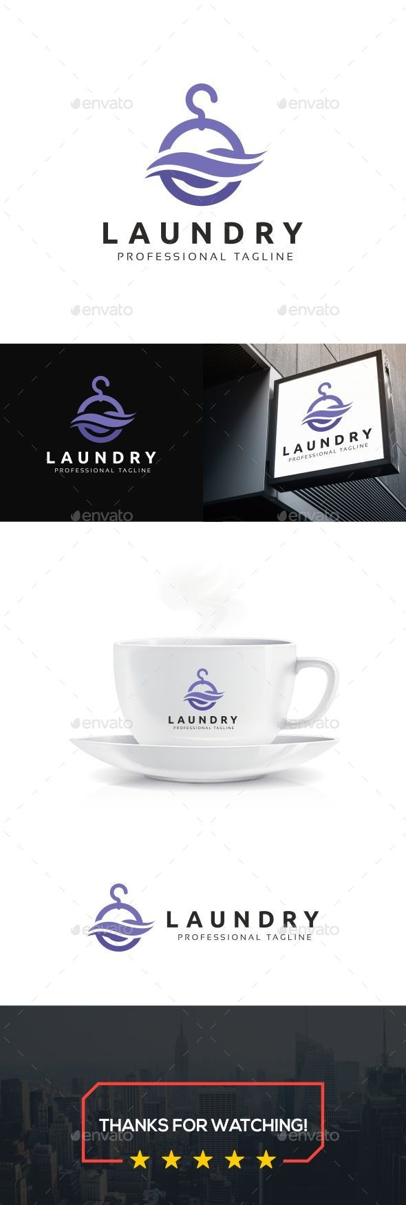 Dry Cleaning Logo - Objects Logo Templates