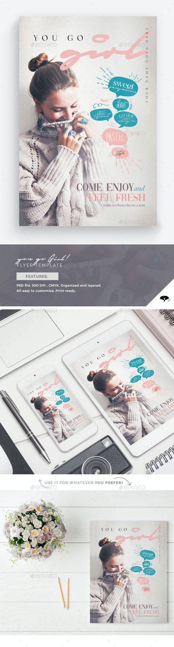 You Go Girl Flyer Template - Events Flyers